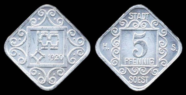 GERMANY, SOEST notgeld 1920