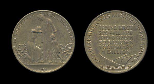 GERMANY, inflation medal 1923