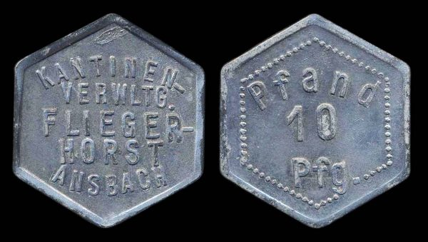 GERMANY, cantine token for the Luftwaffe Fliegerhorst airfield