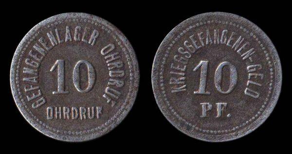 GERMANY, OHRDRUF POW camp token, World War I