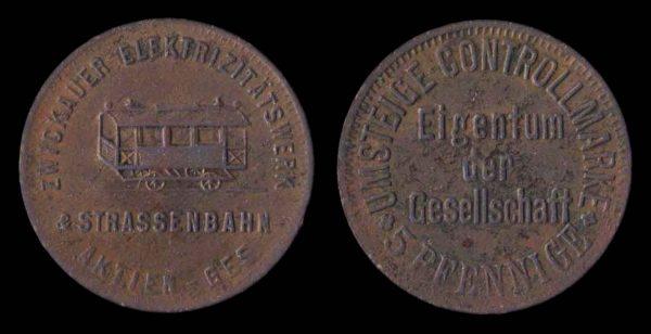 GERMANY, Zwickau transit token, 1900-1920s