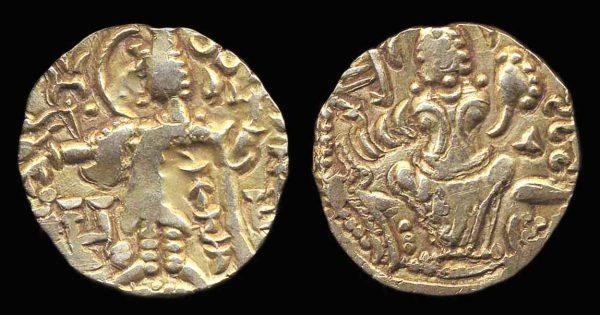 KIDARITE, Kidara, c. 360-380 AD, base gold stater