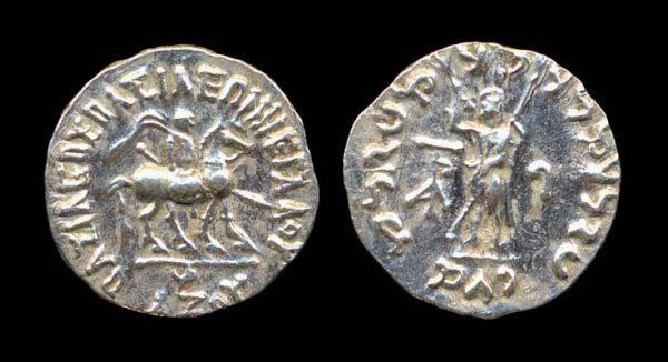 SCYTHIAN, Azes, c. 58-20 BC (Senior), silver drachm