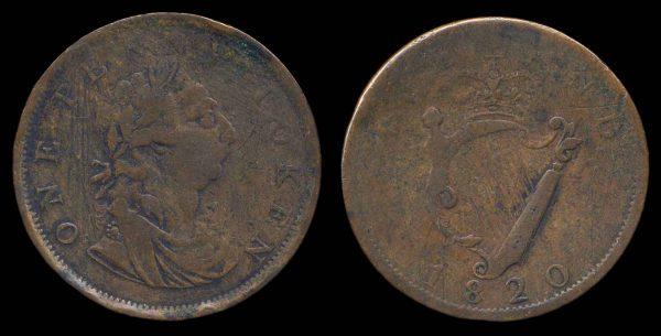 IRELAND, merchant token, 1820