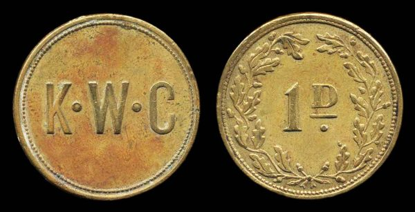 ISLE OF MAN, King William's College penny 1920s