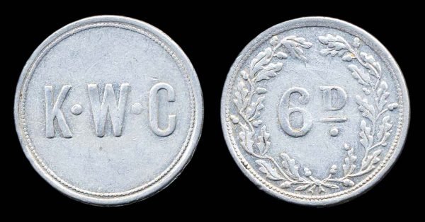 ISLE OF MAN, King William's College sixpence 1920s
