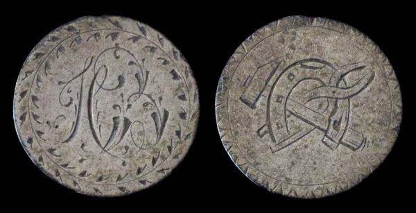 MEXICO (?), silver love token, 18-19th century