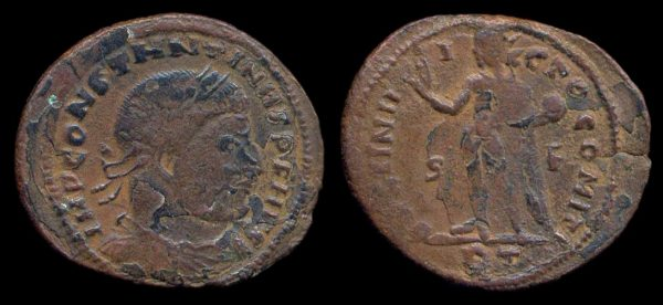 ROMAN EMPIRE, Constantine I, 307-337 AD, billon follis, Rome mint