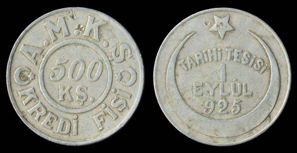 TURKEY, factory token, 1930s