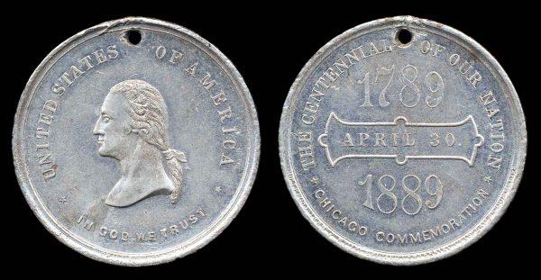 USA, ILLINOIS Washington centennial medal 1889