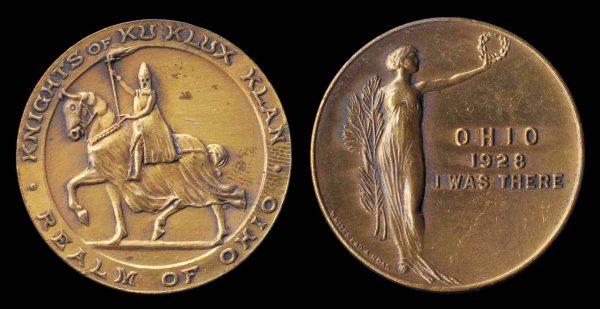 USA, OHIO KKK medal 1928