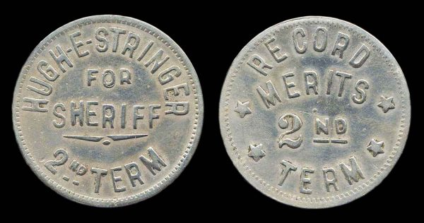 USA, MICHIGAN, political medallet, Stringer for Sherriff 1930s