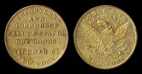 USA, NEW YORK, merchant token 1847-8