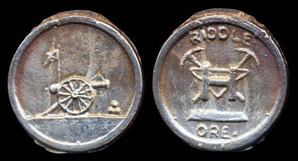 USA, OREGON pure nickel folk art medal 1976