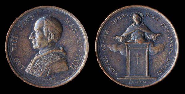 VATICAN, papal medal 1900