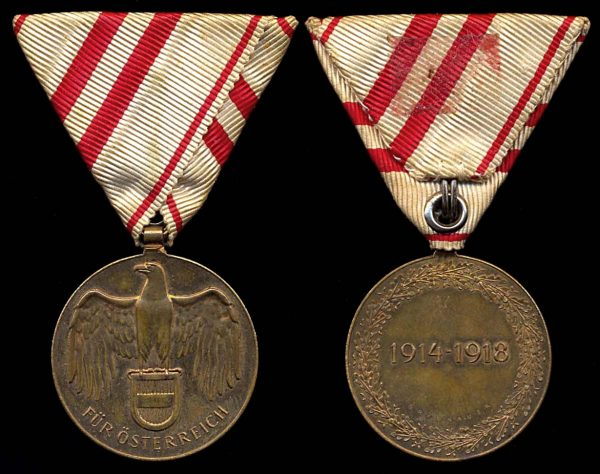 AUSTRIA 1914-1918 War Commemorative Medal