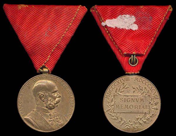 AUSTRIA Franz-Joseph Jubilee Medal 1908