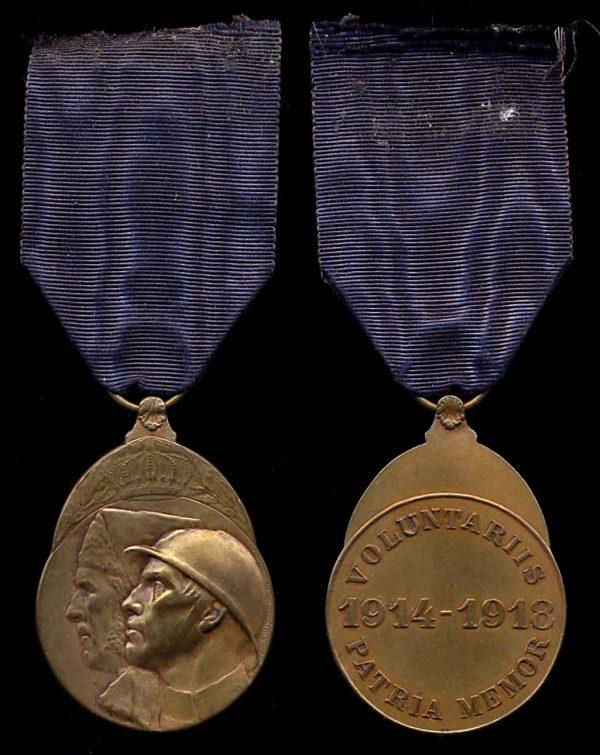 BELGIUM 1914 - 1918 Combat Volunteers Medal