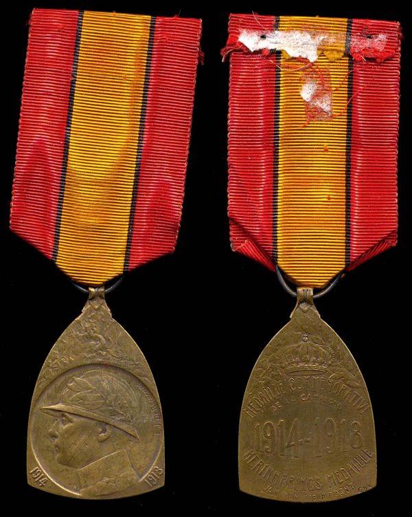 BELGIUM 1914-1918 Commemorative Medal