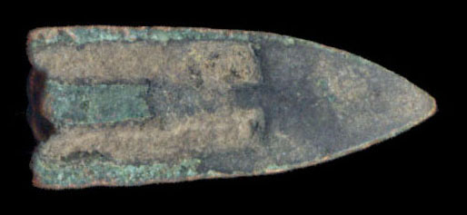 ANCIENT CHINA bronze arrowhead