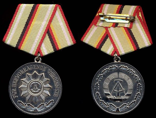 EAST GERMANY Meritorious Service in the National Police