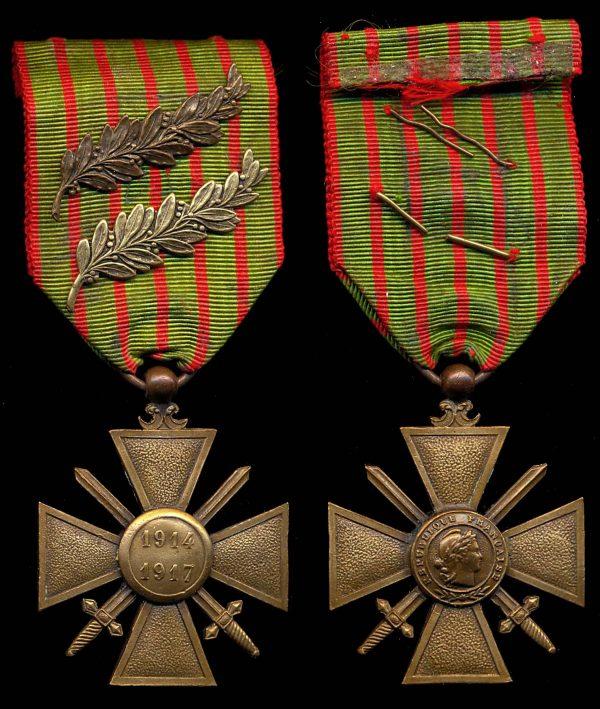 FRANCE Croix de Guerre 1914 1917