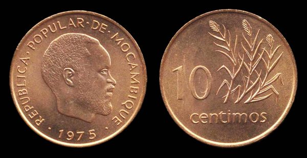 MOZAMBIQUE, 10 centimos 1975