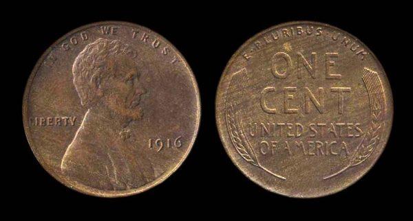 USA, 1 cent 1916
