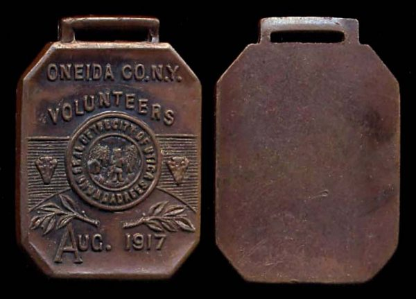 USA NEW YORK Oneida County Volunteers Medal 1917