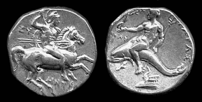 CALABRIA, TARAS, didrachm, circa 235-228 BC