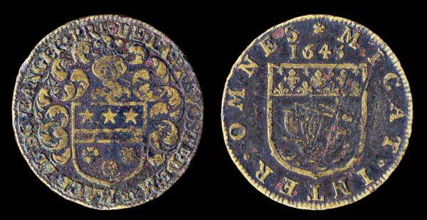 FRANCE, brass jeton 1643