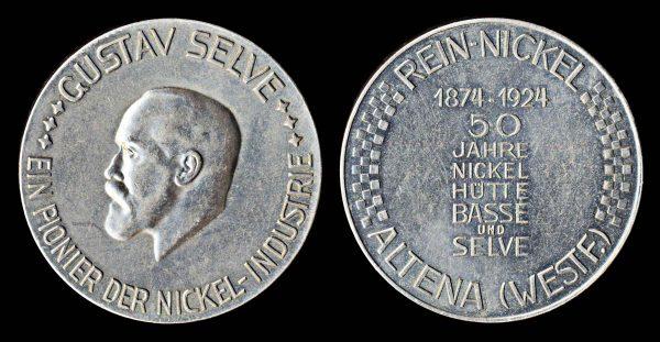GERMANY, large nickel medal, 1924