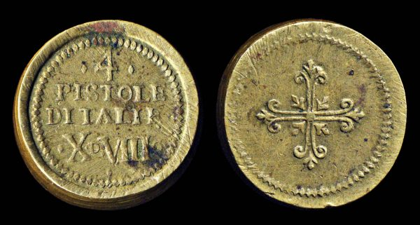 ITALY, coin weight, 18th century