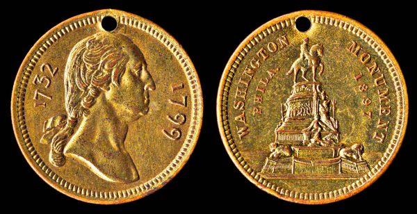 PENNSYLVANIA, Washington Monument medallet 1897