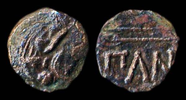 THRACE, PANTIKAPION, bronze minor, 4th-3rd century BC