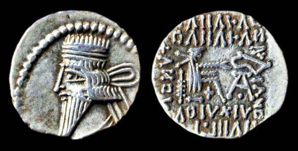 PARTHIA, Vologases III, 105-147 AD, silver drachm