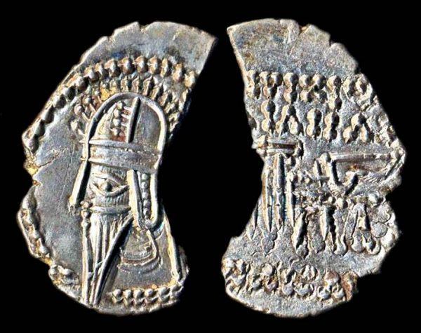 PARTHIA, Vologases VI, 208-228 AD, silver drachm