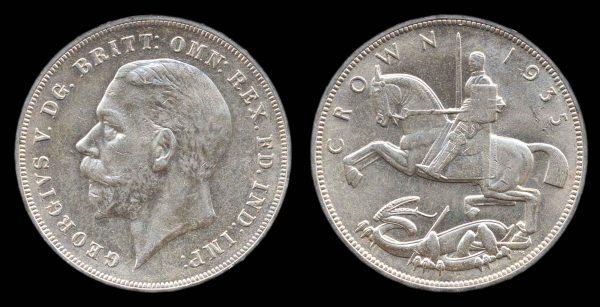 GREAT BRITAIN, 1 crown, 1935