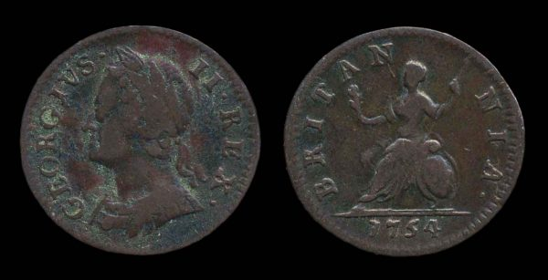 GREAT BRITAIN, farthing, 1754