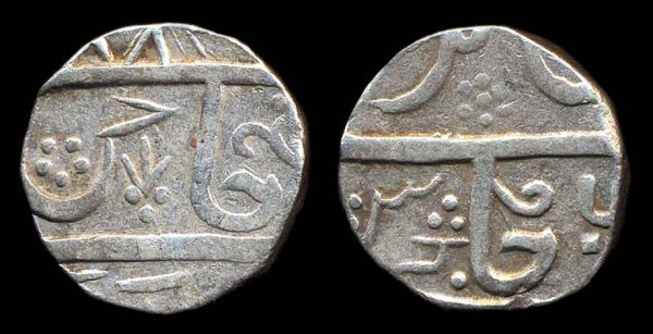 INDIA, DATIA, gaja shahi rupee, 887x year 6 (1774 AD or just blundered)