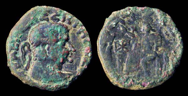 SCYTHIAN, Post-Hermaios imitation bronze tetradrachm, circa 20 BC - 20 AD