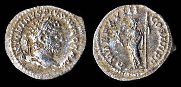 ROMAN EMPIRE, Caracalla, 198-217 AD, silver denarius