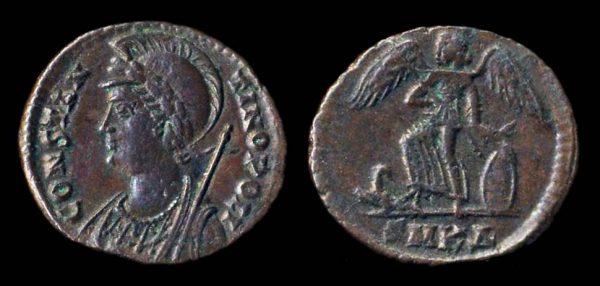 ROMAN EMPIRE, Constantine I, 307-337 AD, billon reduced centenionalis, Cyzicus mint