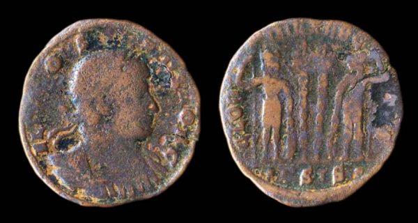 ROMAN EMPIRE, Constantius II, Caesar, 324-337 AD, bronze reduced centenionalis, barbarous imitation
