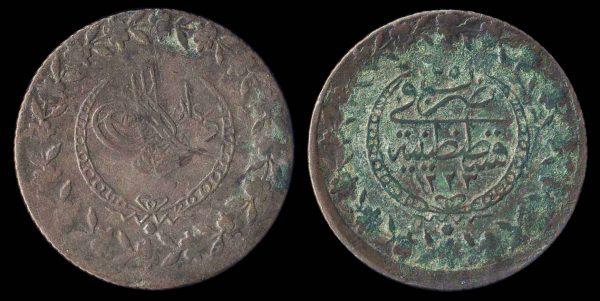 TURKEY, Mahmud II, 1808-39, 100 para, 1223 AH year 25 (1831 AD)