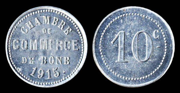 ALGERIA, BONE, aluminum, 10 centimes, 1915
