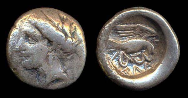 EUBOIA, CHALKIS, silver drachm, circa 338-308 BC