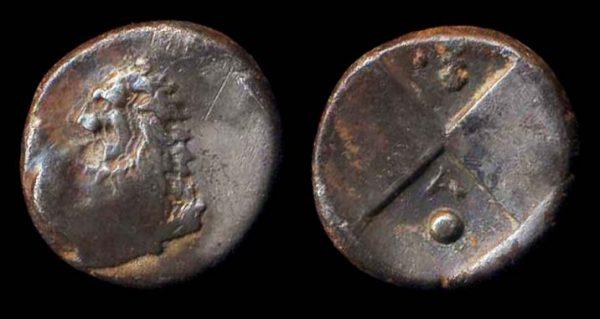 THRACE, CHERRONESSOS, silver hemidrachm, circa 400-350 BC