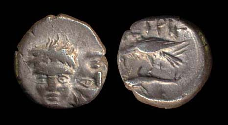 THRACE, ISTROS, silver quarter stater, 400-350 BC