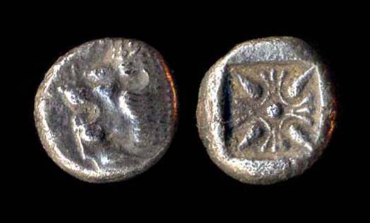 IONIA, MILETOS, silver twelfth stater, late 6th century BC